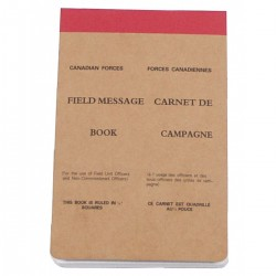 Canadian Force Field Messenger Book - Meldeblock, groß